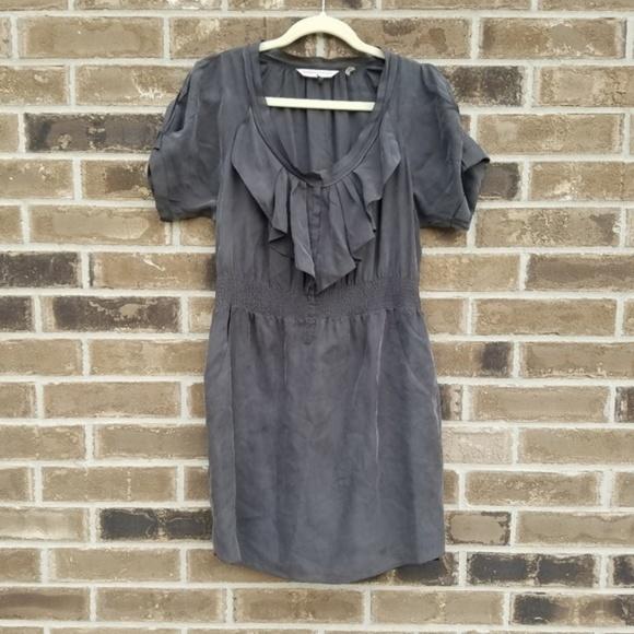 Rebecca Taylor Dresses & Skirts - Rebecca Taylor 100% silk Waterfall Ruffle dress,4
